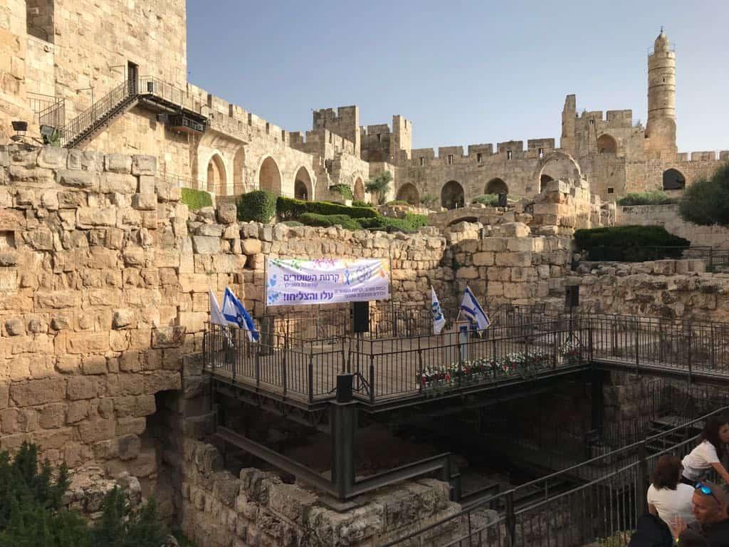 בר ובת מצווה במגדל דוד, צילום: באדיבות מועדון עמיתי קרנות השוטרים