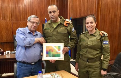 ראש עיריית רמת גן ומפקד פיקוד העורף, צילום: באדיבות דובר צה