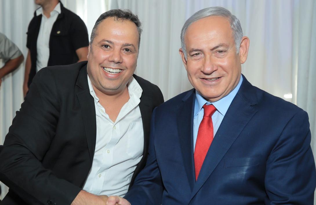 ראש הממשלה בנימין נתניהו עם משה רווח. צילום: יח''צ