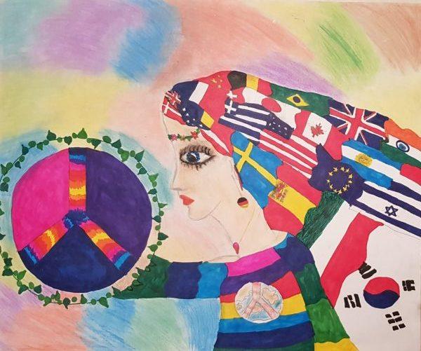 הציור הזוכה של התלמידה מעיין פז