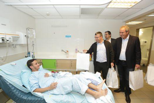 יורם דבש, ישראל וונצובסקי ועידו אדלמן החולה.