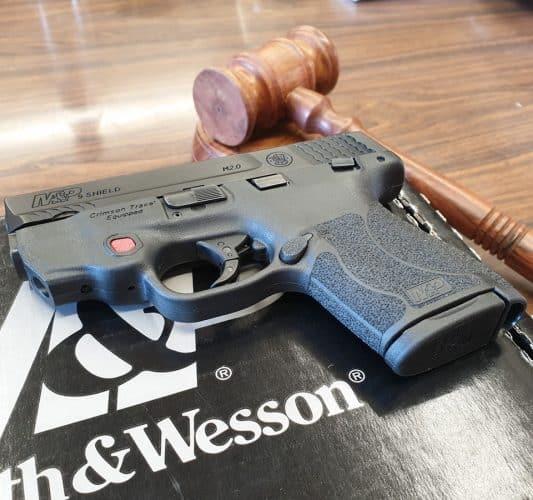 האקדח מתוך הפוסט של ראש העיר