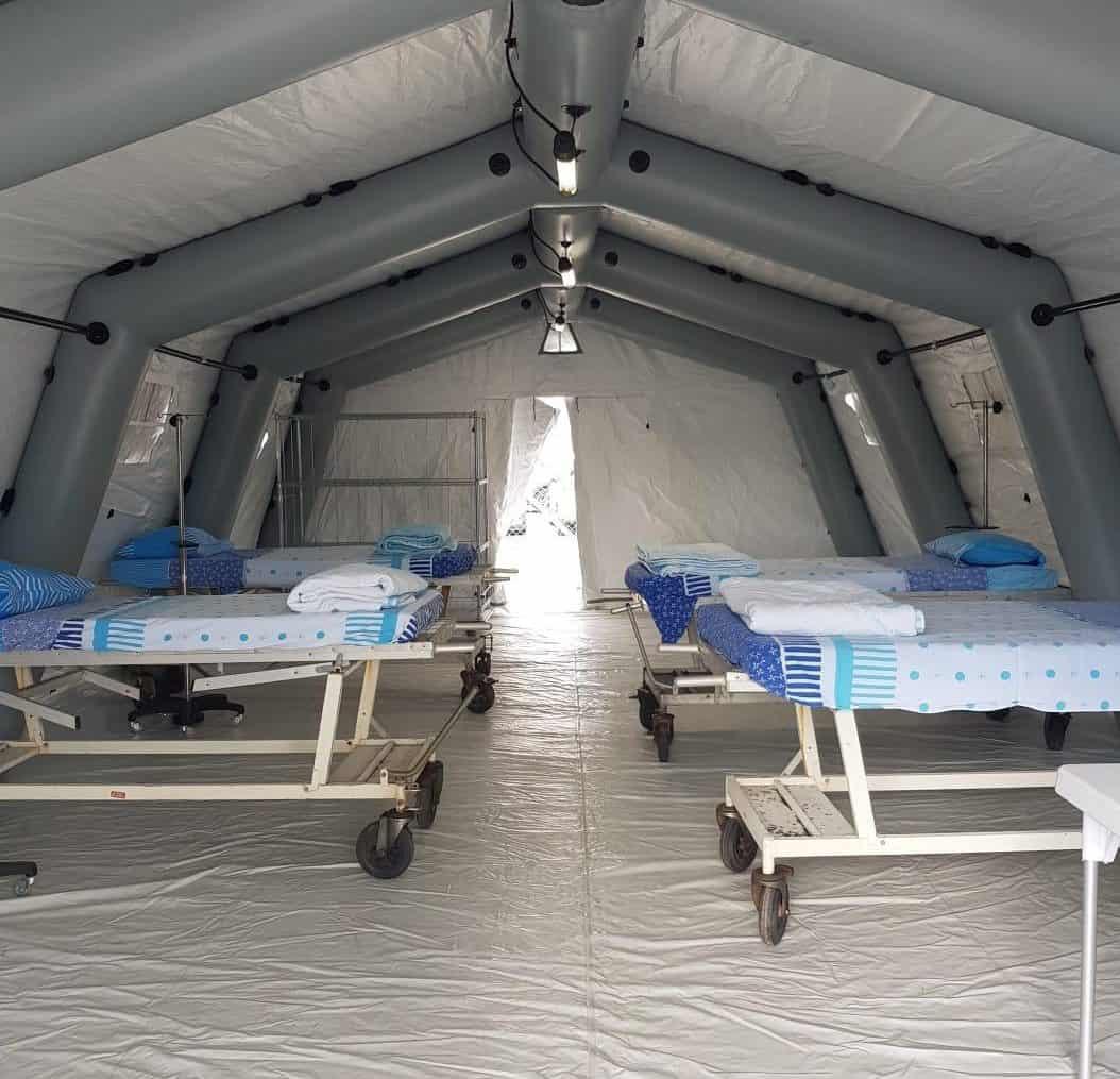 יחידת אשפוז ייעודית לטיפול קורונה שהוקמה בשיבא. צילום: דוברות שיבא