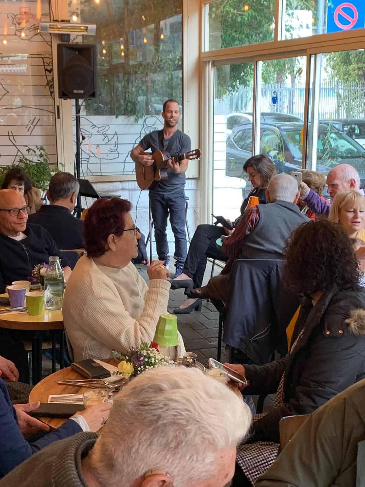 תל אביב – קפה בוקה מפגש לניצולי שואה
