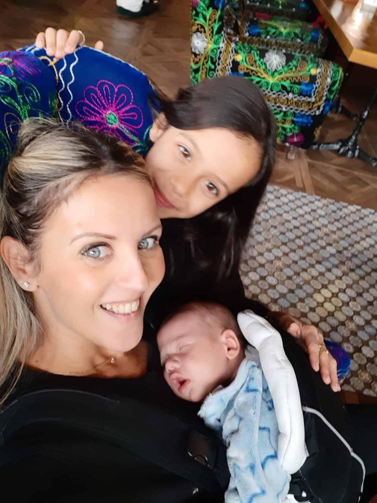 קרן עם התינוק