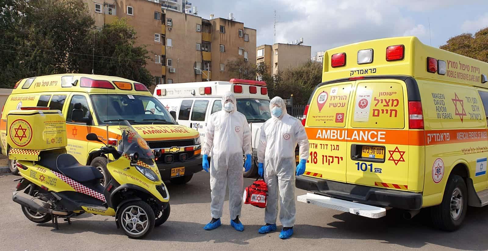 צוותי טיפול בקורונה. צילום: מד״א