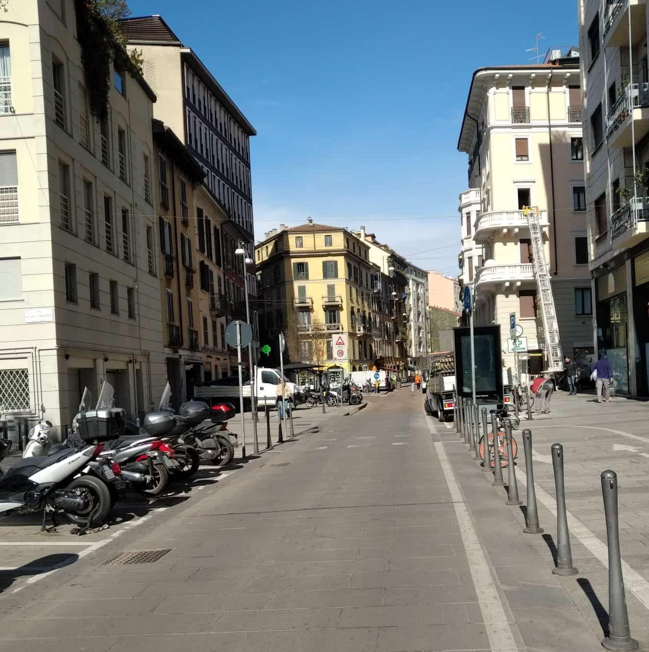 רחובות ריקים במילאנו. צילום יעל ענתי