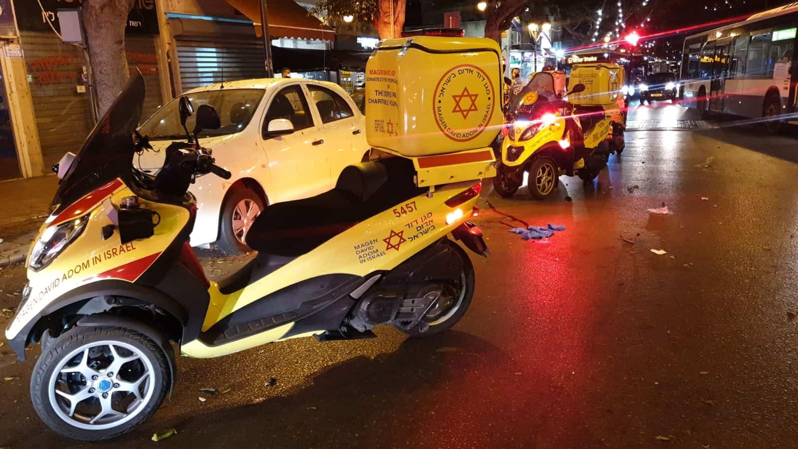 תאונה ברחוב ביאליק ברמת גן. צילום: משטרת ישראל