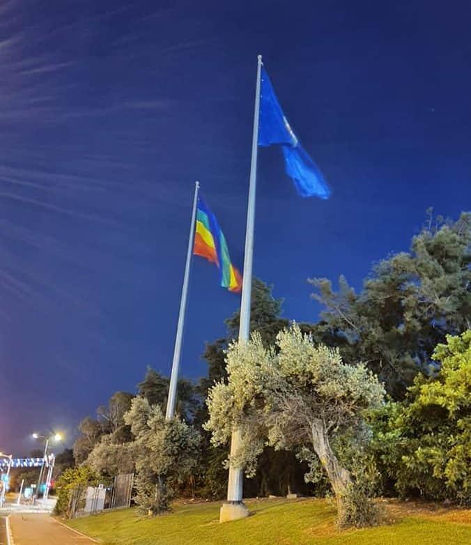 דגל הגאווה. באדיבות אמנון יוסף