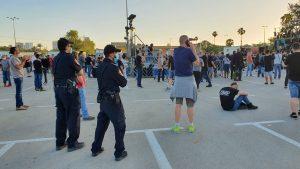 מחאת הסטודנטים בגני יהושע. צילום: משטרת ישראל