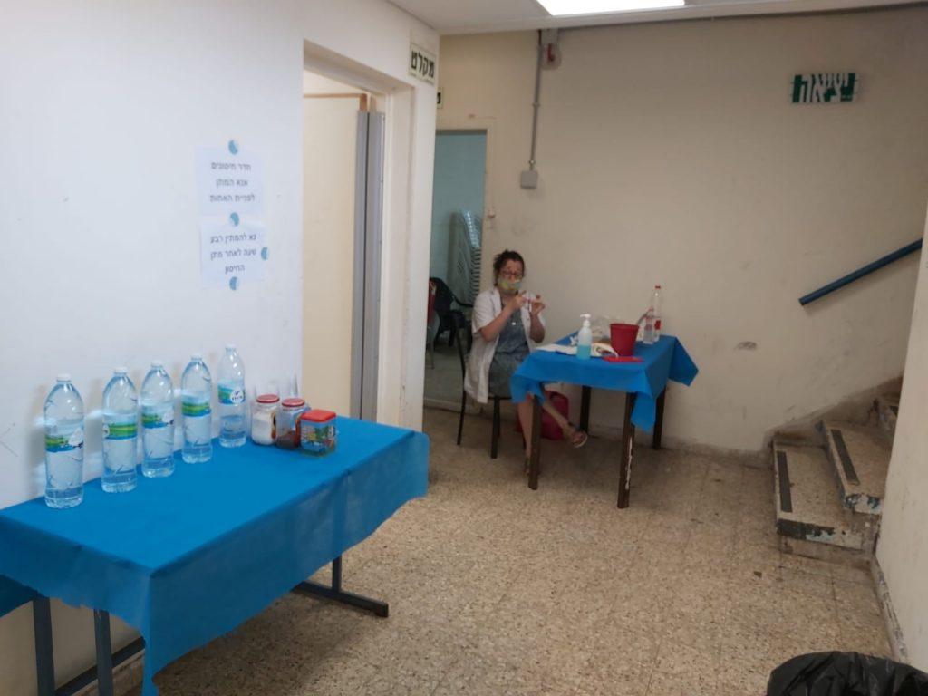 מבצע החיסונים של גבעתיים. צילום: יח''צ