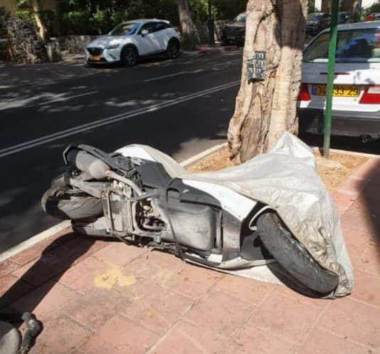 ונדליזם ברחוב הרצל ברמת גן