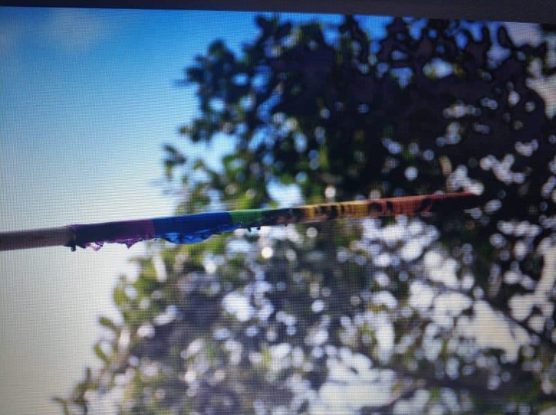 דגלי גאווה נשרפו ברמת גן. תמונה: דוברות המשטרה