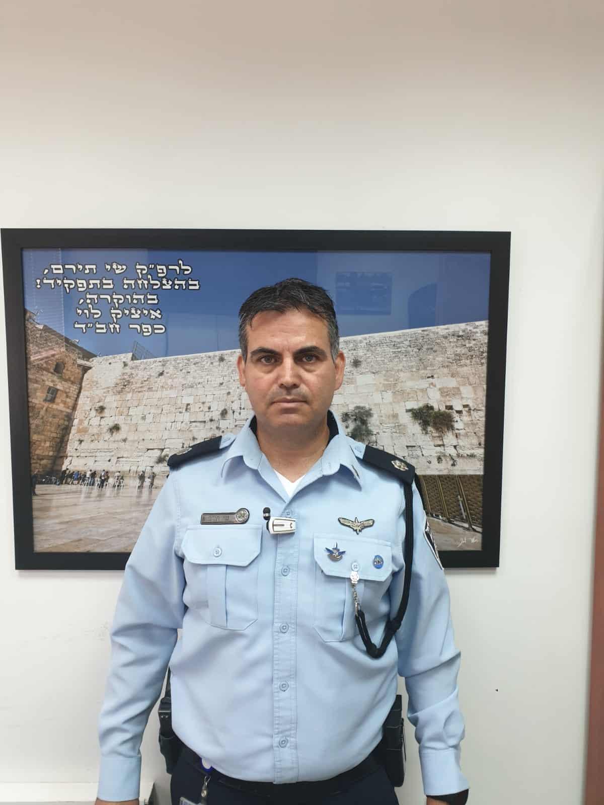 קצין אג''מ החדש. צילום: דוברות המשטרה