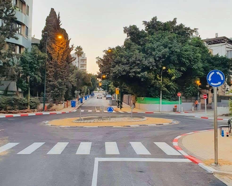 """מעגל תנועה חדש ברמב""""ם (צילום: עיריית גבעתיים)"""