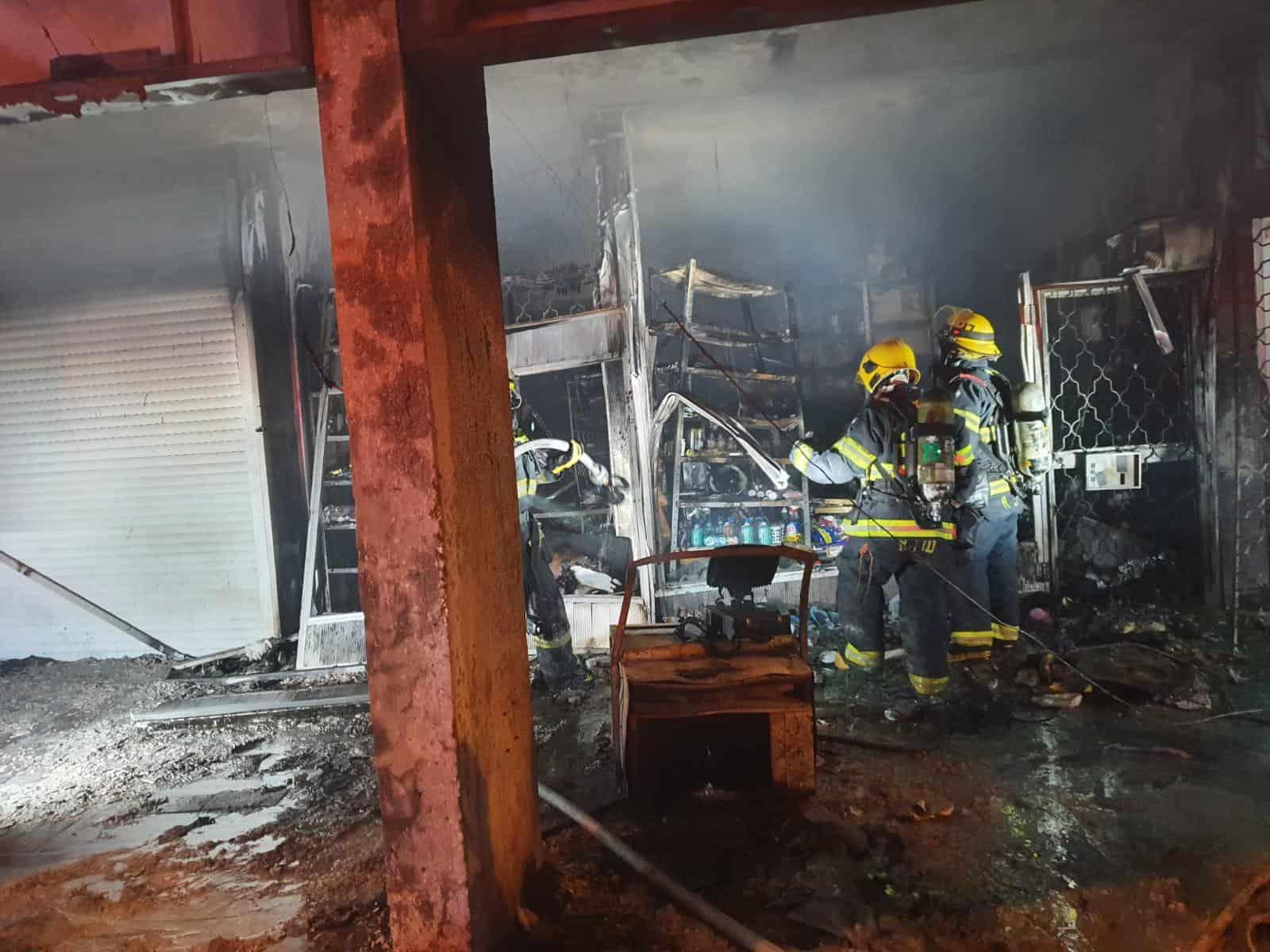 אירוע השריפה בנגבה. צילום: כבאות מרחב דן