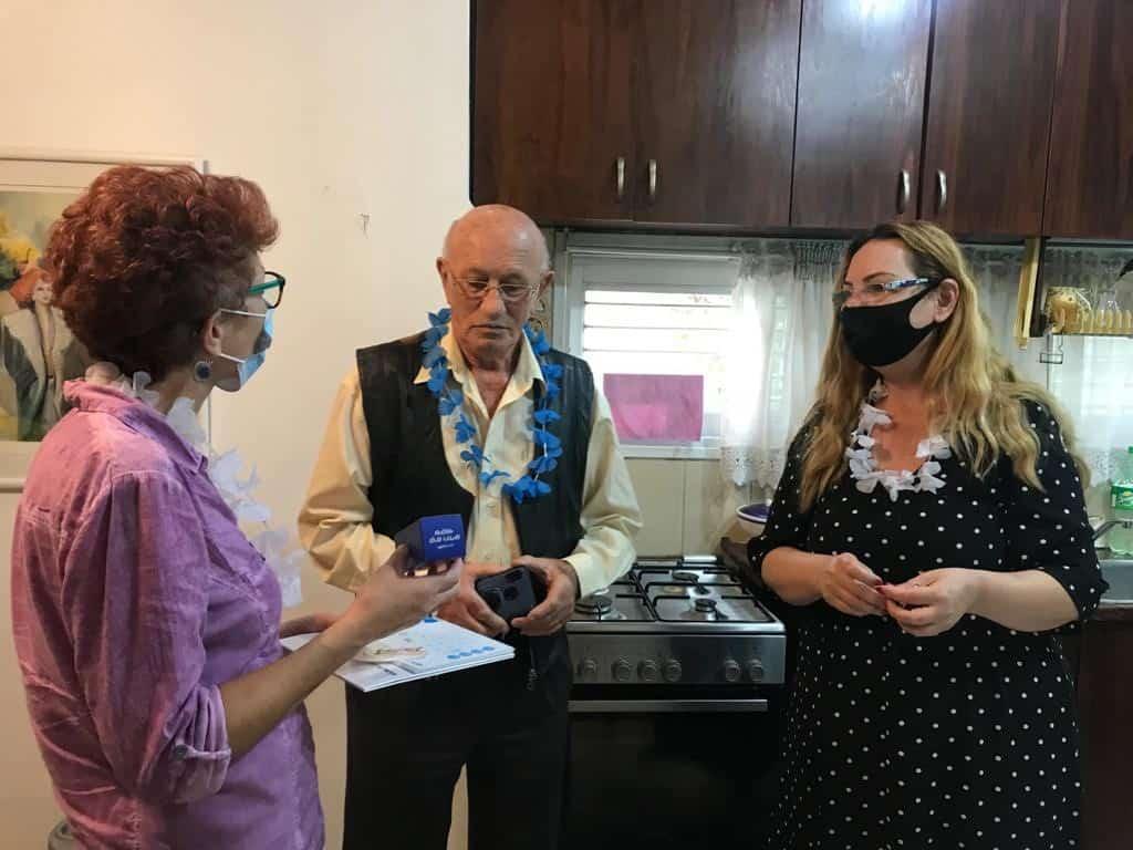מימין סגי ברוך , מילו הרמן ודלית נימצקי.צילום: דוברות מכבי