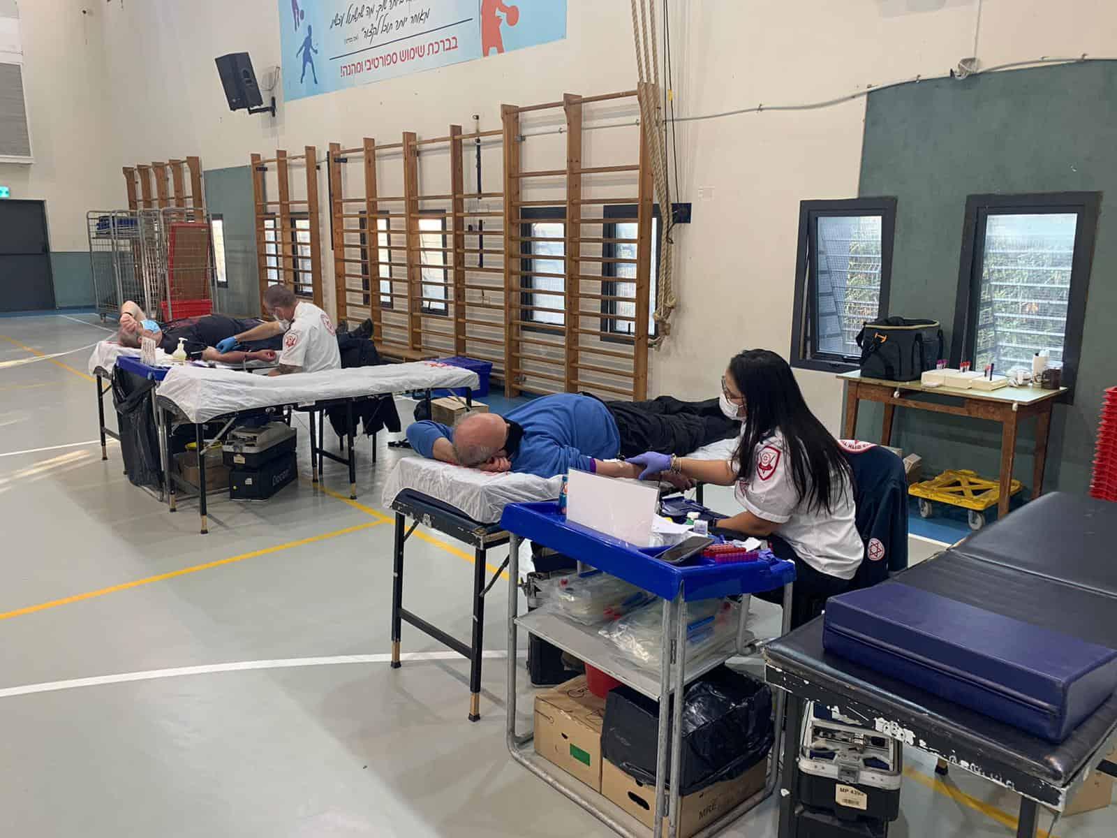 מבצע התרמת דם בגבעתיים (צילום דוברות העירייה)