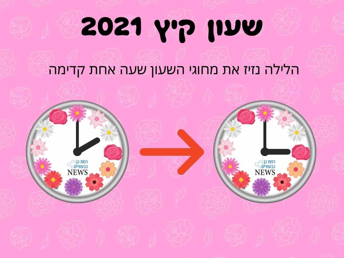 """שעון קיץ 2021. שעה קדימה (ר""""ג גבעתיים NEWS)"""