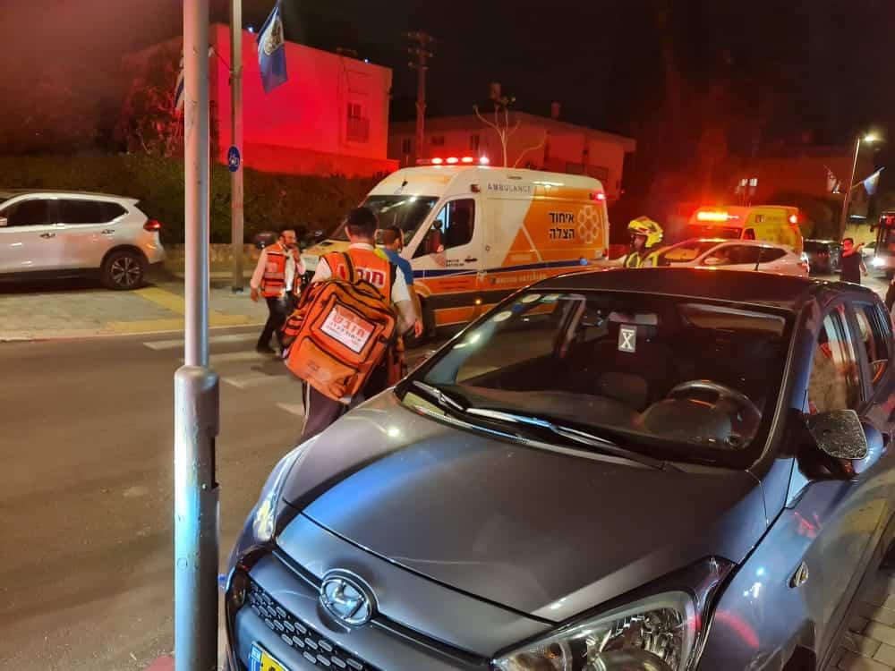 """פצוע אנוש בתאונת דרכים בר""""ג (צילום דוברות איחוד הצלה)"""
